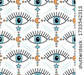 magic seamless pattern with... | Shutterstock .eps vector #1733542313