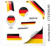 made in germany collection of... | Shutterstock .eps vector #173358140