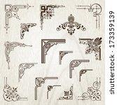 vintage frames elements | Shutterstock .eps vector #173359139