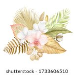 Watercolor Exotic Floral...