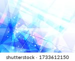 abstract blue background with... | Shutterstock .eps vector #1733612150