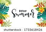 hello summer calligraphy card....   Shutterstock .eps vector #1733618426