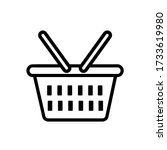 vector basket icon. eps. 10. | Shutterstock .eps vector #1733619980