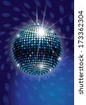 mirror disco ball vector | Shutterstock .eps vector #173362304