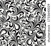 vector seamless black and white ... | Shutterstock .eps vector #1733640029