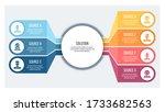 business infographics. chart... | Shutterstock .eps vector #1733682563
