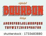 alphabet design  retro font ... | Shutterstock .eps vector #1733683880