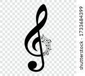 music notes  music key  treble...   Shutterstock .eps vector #1733684399