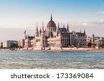 the hungarian parliament... | Shutterstock . vector #173369084