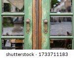 Beautiful Wooden Door Of Green...