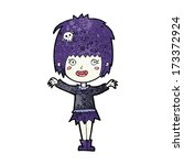 cartoon happy vampire girl | Shutterstock .eps vector #173372924