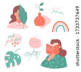 Vector Set Of Stickers And...