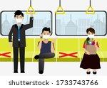 new normal life of social... | Shutterstock .eps vector #1733743766