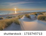 Dutch Landscape And Sunset At...