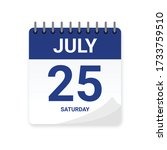 daily calendar icon. date  time ... | Shutterstock .eps vector #1733759510