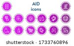 editable 14 aid icons for web...   Shutterstock .eps vector #1733760896