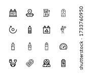 editable 16 full icons for web...   Shutterstock .eps vector #1733760950