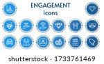 editable 14 engagement icons...   Shutterstock .eps vector #1733761469