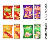 set potato chips with different ...   Shutterstock .eps vector #1733764856
