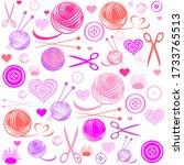 knitting and needlework...   Shutterstock .eps vector #1733765513