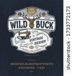 font wild buck. craft retro... | Shutterstock .eps vector #1733772173