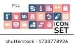 pill icon set. 19 filled pill... | Shutterstock .eps vector #1733778926