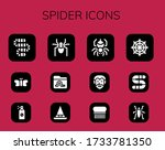 spider icon set. 12 filled...   Shutterstock .eps vector #1733781350