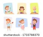 vegetables for children....   Shutterstock .eps vector #1733788370