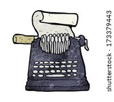 cartoon typewriter | Shutterstock .eps vector #173379443