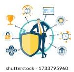 businessman  security support... | Shutterstock .eps vector #1733795960