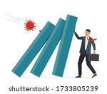 the financial crisis caused by...   Shutterstock .eps vector #1733805239