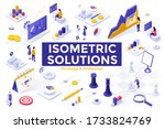 strategy and analysis set  ... | Shutterstock .eps vector #1733824769