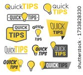 tricks and quick tips solution... | Shutterstock .eps vector #1733828330