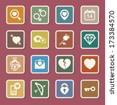 valentine's day icons set....   Shutterstock .eps vector #173384570