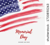 usa memorial day background.... | Shutterstock .eps vector #1733850263