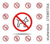 forbidden dog icon. set can be...
