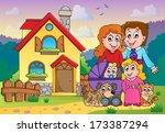 family theme image 5   eps10... | Shutterstock .eps vector #173387294