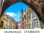 view of colorful old town in... | Shutterstock . vector #173388254