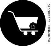 shopping cart  trolley vector...