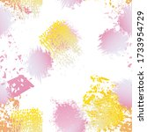 hand drawn grunge surface.... | Shutterstock .eps vector #1733954729
