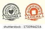support local stamp. grunge...   Shutterstock .eps vector #1733966216
