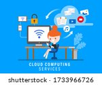 cloud computing services ... | Shutterstock .eps vector #1733966726