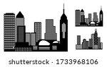 city metropolis skyline with...   Shutterstock .eps vector #1733968106