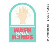 wash your hands sign vector... | Shutterstock .eps vector #1733971589