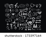 hand doodle business  | Shutterstock .eps vector #173397164