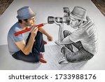Creative mixed media image...