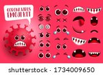 corona virus emoji kit vector... | Shutterstock .eps vector #1734009650