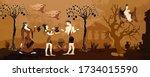 ancient greek mythology. old... | Shutterstock .eps vector #1734015590