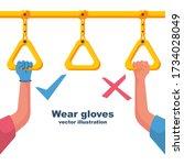 precautions coronavirus covid... | Shutterstock .eps vector #1734028049