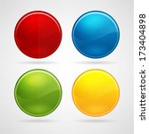 colorful web buttons set | Shutterstock .eps vector #173404898